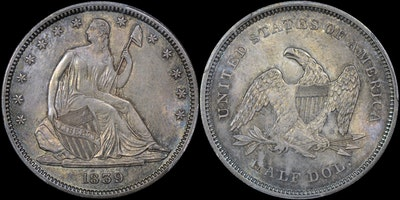 GFRC Open Set Registry - No Motto 1839 Seated With Drapery 50C
