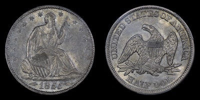 GFRC Open Set Registry - No Motto 1855 Seated With Arrows 50C