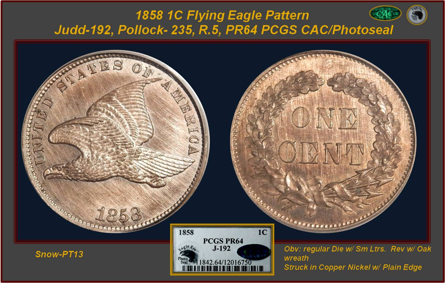 GFRC Open Set Registry - Manya 1858 Pattern  1C
